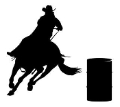 Barrel Racer Silhouette v5 Decal Sticker