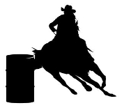 Barrel Racer Silhouette v6 Decal Sticker