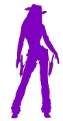 Cowgirl Silhouette v14 Decal Sticker