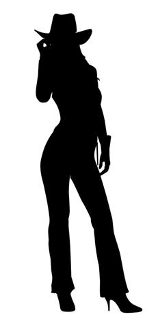 Cowgirl Silhouette v15 Decal Sticker