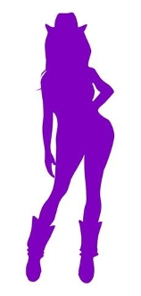 Cowgirl Silhouette v22 Decal Sticker