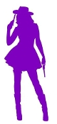 Cowgirl Silhouette v8 Decal Sticker