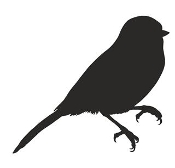 Chickadee Bird Silhouette Decal Sticker