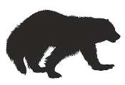 Wolverine Silhouette Decal Sticker