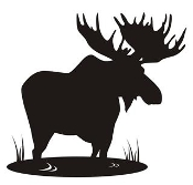 Moose Silhouette v6 Decal Sticker