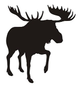 Moose Silhouette v7 Decal Sticker