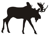 Moose Silhouette v8 Decal Sticker