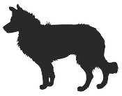 Border Collie Silhouette Decal Sticker