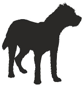 Border Terrier Silhouette Decal Sticker