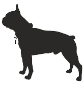 Boston Terrier Silhouette Decal Sticker