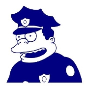 Chief Wiggum Decal Sticker