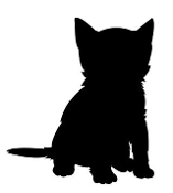 Kitten Silhouette Decal Sticker
