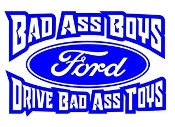 Bad Ass Boys Ford v3 Decal Sticker