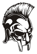 Gladiator Helmet Decal Sticker