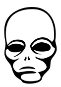 Alien Head v2 Decal Sticker