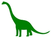 Dinosaur Silhouette 1 Decal Sticker