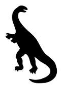 Dinosaur Silhouette 11 Decal Sticker