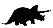 Dinosaur Silhouette 5 Decal Sticker