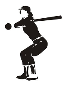 Softball Player 5 Decal Sticker