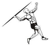 Javelin Thrower Decal Sticker