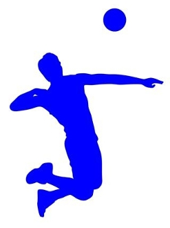 Volleyball Player Silhouette v8 Decal Sticker