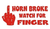 Horn Broke Watch For Finger v2 Decal Sticker