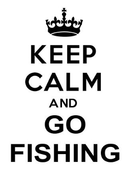Keep Calm and Go Fishing Decal Sticker