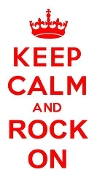 Keep Calm and Rock On Decal Sticker