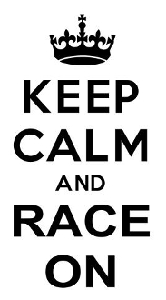 Keep Calm and Race On Decal Sticker