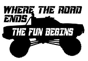 Where The Road Ends The Fun Begins v3 Decal Sticker