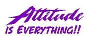 Attitude Is Everything Decal Sticker