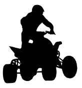 ATV Silhouette v1 Decal Sticker