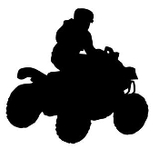 ATV Silhouette v4 Decal Sticker