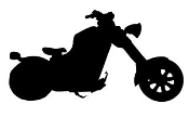Motorcycle Silhouette v2 Decal Sticker