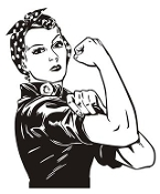 Rosie the Riveter v1 Decal Sticker