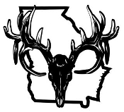 Georgia Deer Skull Decal Sticker