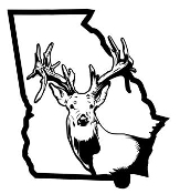 Georgia Deer v2 Decal Sticker