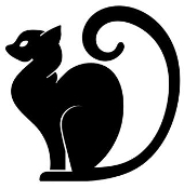Cat Silhouette v19 Decal Sticker