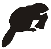 Beaver Silhouette Decal Sticker