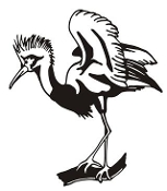 Crowned Crane Decal Sticker