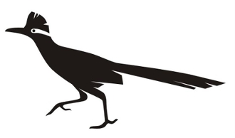 Roadrunner Silhouette v1 Decal Sticker