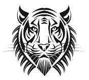 Tiger Head v8 Decal Sticker