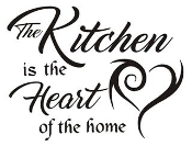 The Kitchen is the Heart of the Home Decal