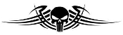 Punisher Skull Tribal Graphics Decal Sticker