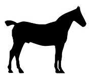Horse Silhouette v14 Decal Sticker