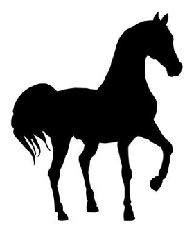 Horse Silhouette v15 Decal Sticker