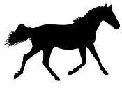 Horse Silhouette v19 Decal Sticker