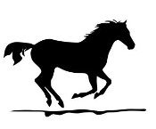 Horse Silhouette v7 Decal Sticker