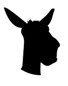 Donkey Head Silhouette Decal Sticker