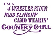 Camo Wearin Country Girl Decal Sticker